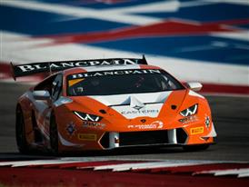Ferrucci Starts Hot, Earns Exciting Victory In  Lamborghini Blancpain Super Trofeo North America Debut