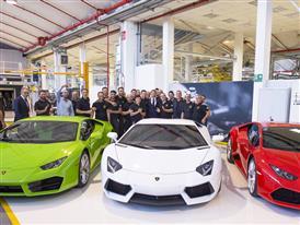 Matteo Renzi visits Automobili Lamborghini