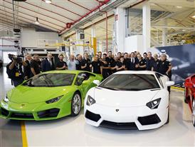 Group photo in the factory