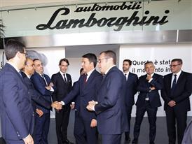 M. Renzi meets the Automobili Lamborghini Management Board