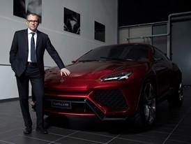 Stefano Domenicali with Urus concept