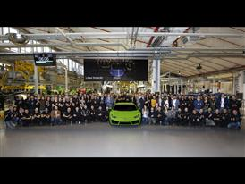 Automobili Lamborghini new employees with S. Domenicali and the Management Board