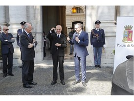 da sx, Capo Polizia F. Gabrielli, Min. Minniti e S. Domenicali