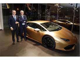 S. Domenicali with Liborio Stellino, Italian Ambassador in United Arab Emirates