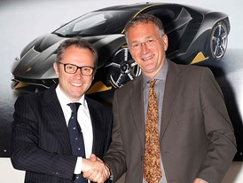 Mauro Ferrari and Stefano Domenicali