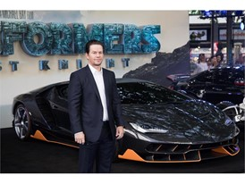 Mark Wahlberg and the Lamborghini Centenario at the premiere of Transformers, The Last Knight