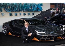 Michael Bay and the Lamborghini Centenario at the premiere of Transformers, The Last Knight