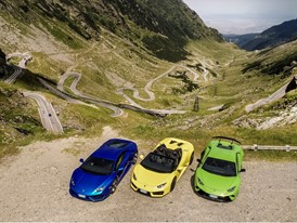 Six Lamborghinis in Transylvania  challenge the Transfăgărășan,  one of the most beautiful roads in the world