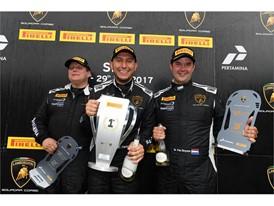 Lamborghini Cup podium - P1 Perez P2 Van der Horst P3 Van Deyzen