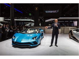 Stefano Domenicali, Chairman and CEO of Automobili Lamborghini and new Lamborghini Aventador S Roadster