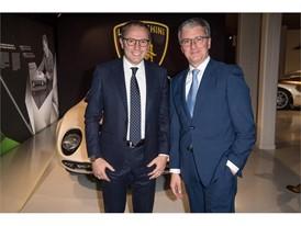 Urus Premiere Stefano Domenicali and Rupert Stadler