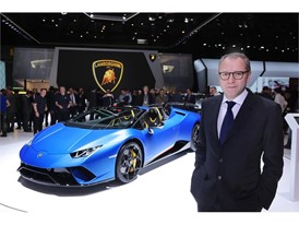 Stefano Domenicali and The Huracan Performante Spyder 3