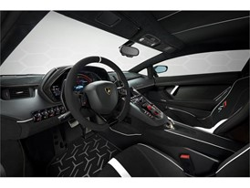 Aventador SVJ 63 Studio White interior