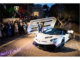 Aventador SVJ 63 unveiling at Lamborghini Lounge Monterey