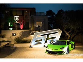 Aventador SVJ on display at Lamborghini Lounge Monterey