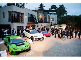Lamborghini Models on display at Lamborghini Lounge Monterey
