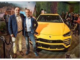 From the right Paolo Bergamo, svp, salesforce and F. Foschini, Chief Commercial Director Lamborghini at Dreamforce 2018