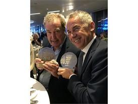 J. Clarkson & M. Reggiani with the award