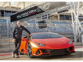 Stefano Domenicali with Huracan EVO
