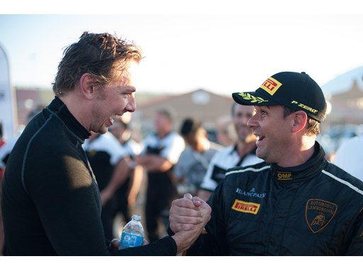 Kevin Conway and Dax Shepard celebrate success at Fontana