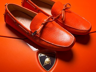 Car Shoe produces a limited edition of the famed mocassin for the 50th anniversary of Lamborghini