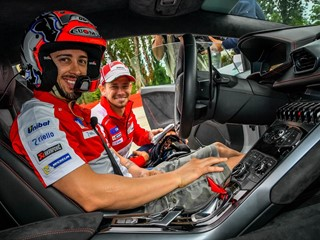 Dovizioso and Stoner guests at Lamborghini Track Accademia