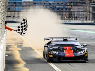 The New Leaders of the Lamborghini Super Trofeo Middle  East are Breukers and Jefferies