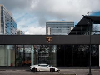 Lamborghini opens first showroom in Saint Petersburg, Russia, in new corporate design