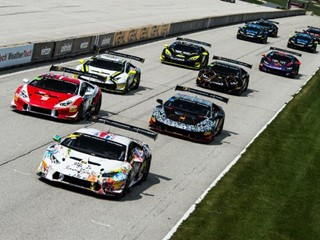 Hindman and Agostini Score Dominant Win in Lamborghini Super Trofeo Race 1 at Road America