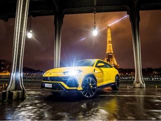 Lamborghini inaugura a Parigi il suo quinto showroom francese e svela la nuova Urus