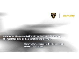 Ginevra 2018 – Presentazione della Limited Edition PX5, la bicicletta da triathlon Lamborghini Cervélo