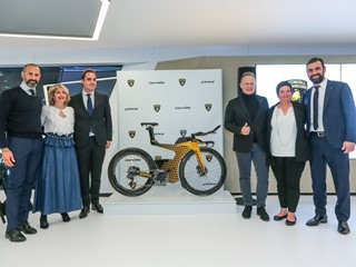 Lamborghini and Cervélo join forces on limited-edition triathlon bicycle P5X