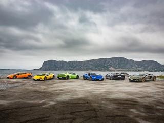 Lamborghini Avventura 2018: an expedition of Lamborghini  super sports cars across the Norwegian fjords