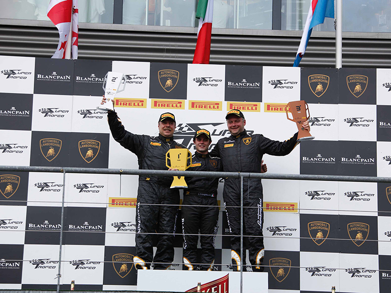 Super Trofeo SPA Day 1 AM Podium