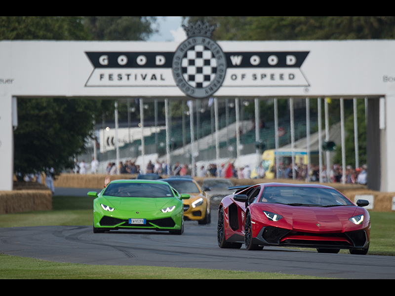 Lamborghini Aventador Superveloce and Huracán at Goodwood Festival of Speed 2015