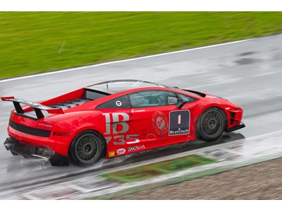 Wet Silverstone puts Lamborghini Blancpain Super Trofeo four-wheel drive to the test as European series travels to Great Britain