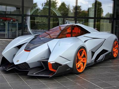 La Lamborghini Egoista da oggi in esposizione permanente al Museo Lamborghini