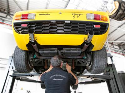 "Lamborghini relaunches Restoration Center: ""Lamborghini Polo Storico"" provides unique knowledge and guaranteed authenticity for classic Lamborghini cars"