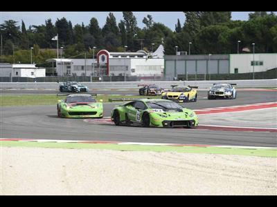 Podium finish in Misano Blancpain Sprint Series for the debuting Lamborghini Huracan GT3