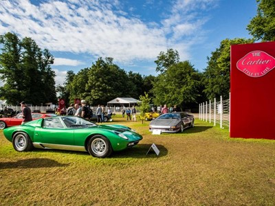 Lamborghini celebrates the Miura 50th anniversary at  Goodwood Festival of Speed.  Miura SV restored by Lamborghini Polo Storico is overall winner of Cartier Style et Luxe Concours d'Elegance at Goodwood Festival of Speed