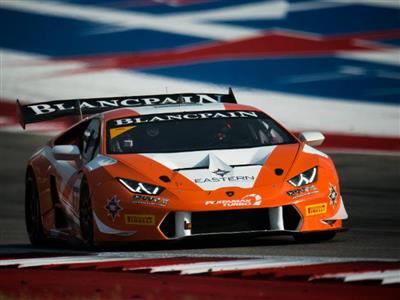 Ferrucci Starts Hot, Earns Exciting Victory In  Lamborghini Blancpain Super Trofeo North America Deb