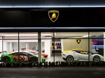 Lamborghini Opens in Bristol First Dealership  in New Corporate Design