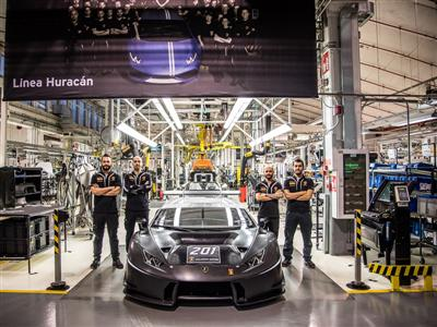 Lamborghini Squadra Corse sets a new record  with over two-hundred racing cars produced in only 24 m