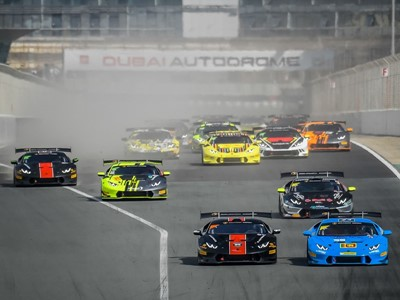Breukers e Jefferies ancora una volta primi a Dubai  nel Lamborghini Super Trofeo Middle East