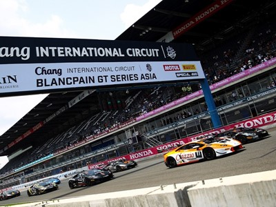 Intense Race Action In Buriram As Race Two Of The 2017 Lamborghini Super Trofeo Greenlights At The Chang International Circuit In Thailand