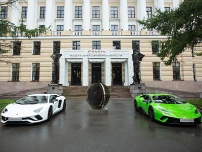 """Einweihung der Ausstellung """"Lamborghini. Design Legend"""" im Erarta-Museum für Moderne Kunst in St. Petersburg"""