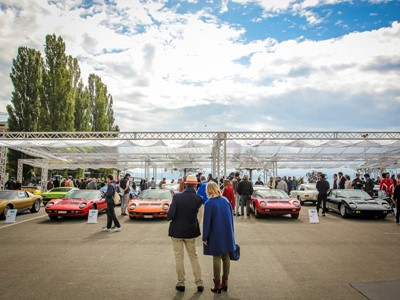 First Lamborghini Concours d'Élégance at Neuchâtel, Switzerland, paying homage to illustrious archit
