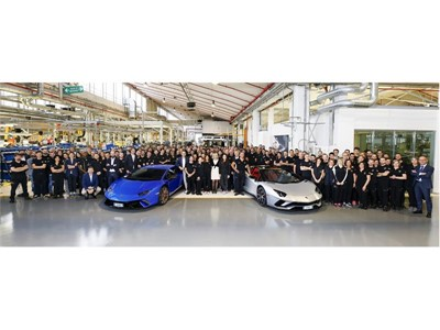 Production records for Automobili Lamborghini: 7,000 Aventador  and 9,000 Huracán produced in six an