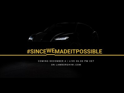 Live Streaming of the Lamborghini Urus Worldwide Premiere