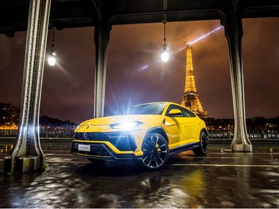 Lamborghini opens in Paris its 5th French Showroom and unveils the new Urus